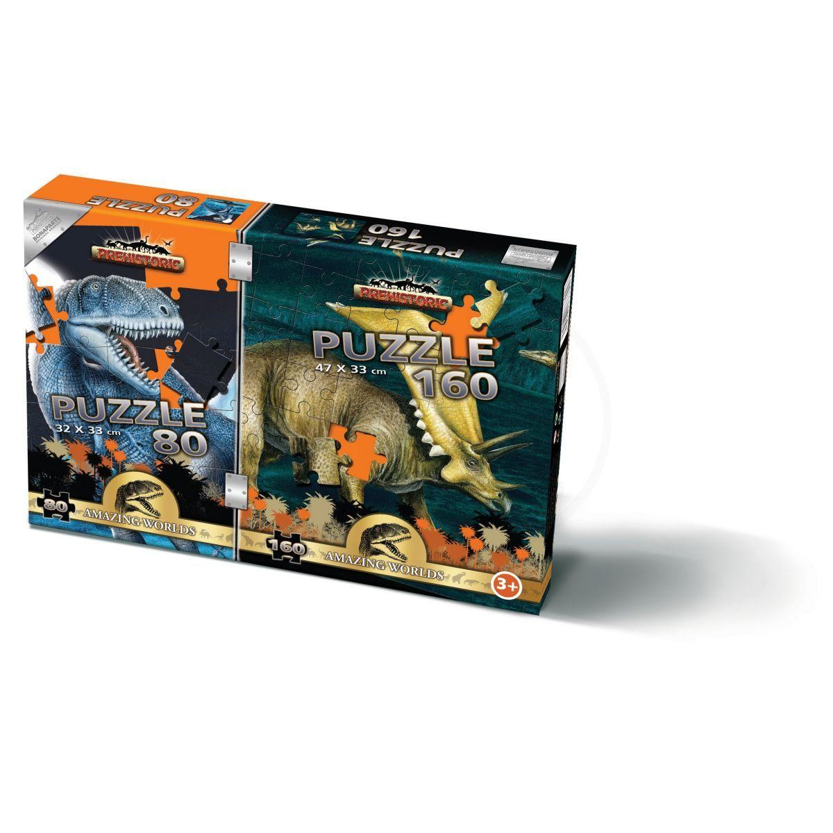 Bonaparte Puzzle 80 a 160 dílků Prehistoric