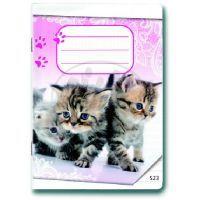 Bonaparte Sešit A5/523 Koťátka 20 listů linkovaný