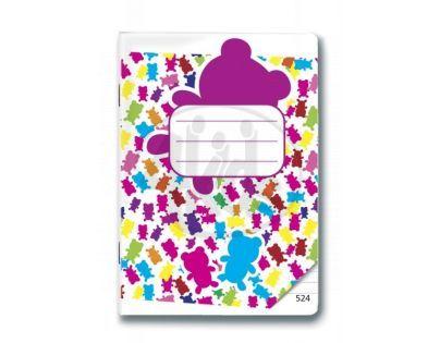 Bonaparte Sešit A5/524 Gummy Bears, 20 listů linkovaný