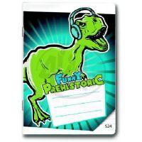 Bonaparte Sešit A5 524 Prehistoric Funny 20 listů linkovaný