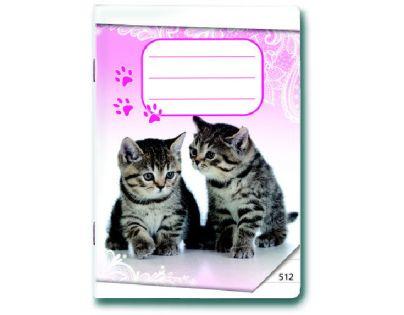 Bonaparte Sešit A5 512 Koťátka 10 listů linkovaný