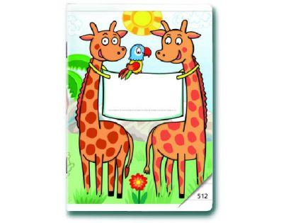 Bonaparte Sešit A5/512 Malovaná Zoo 10 listů linkovaný