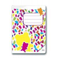 Bonaparte Sešit A5/523 Gummy Bears, 20 listů linkovaný