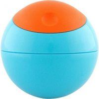 Boon Kulatá svačinová nádobka modro-oranžová