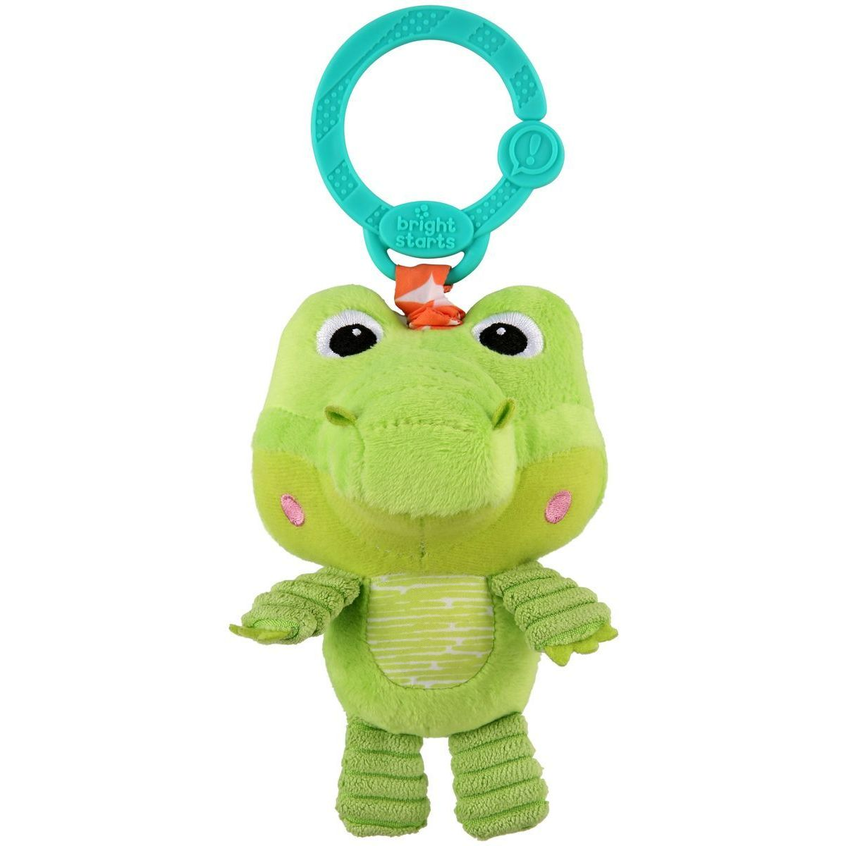 Bright Starts Hračka plyšová na C kroužku Take and Shake krokodýl