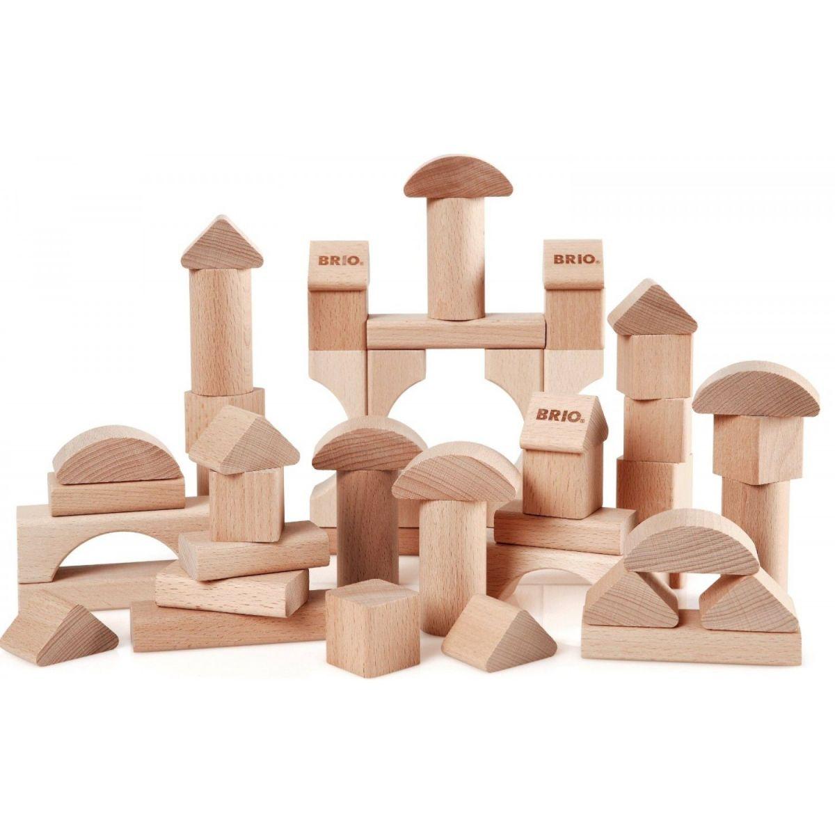 Brio Dřevěné kostky 50 dílků