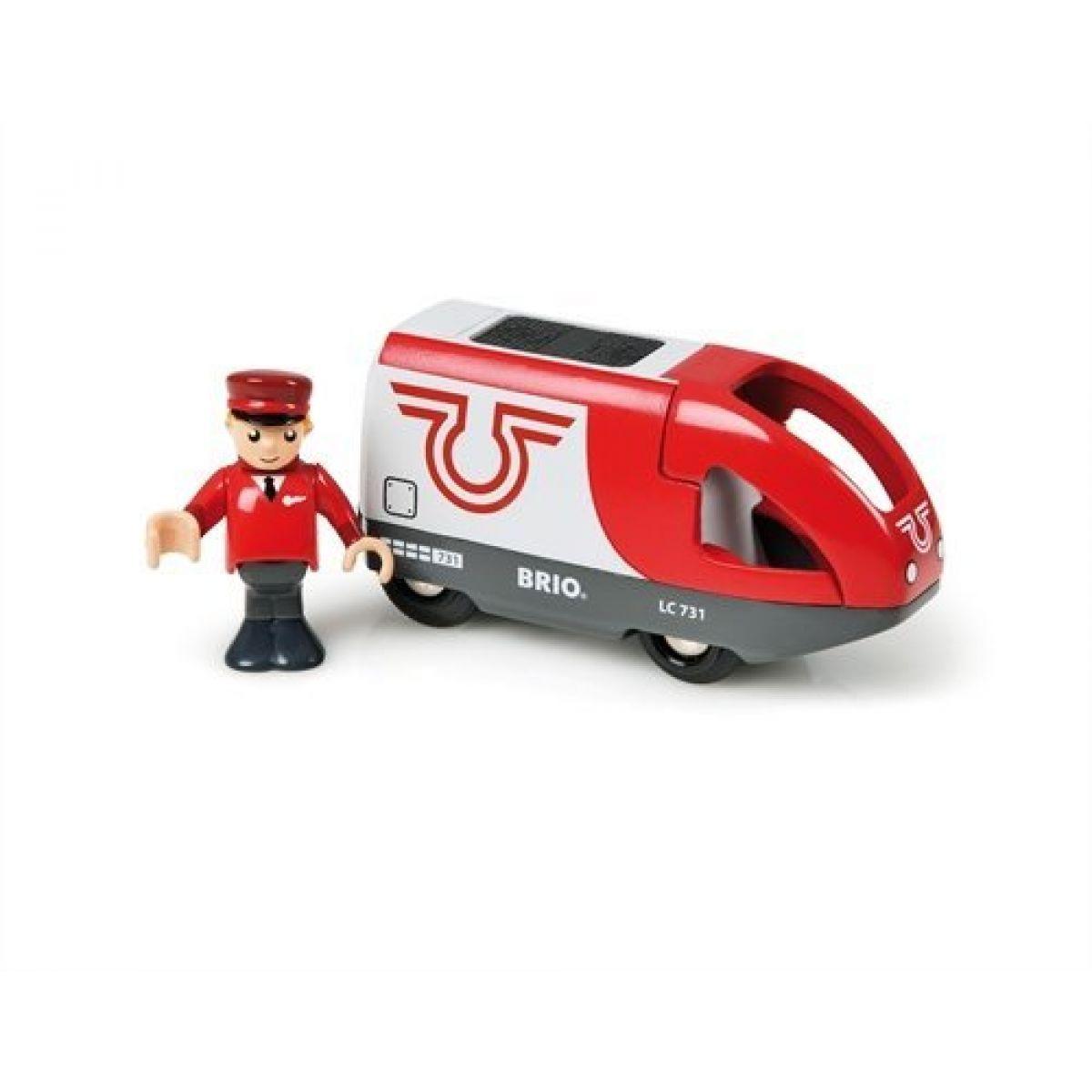 Brio 33504 - Elektrická lokomotiva červeno - bílá