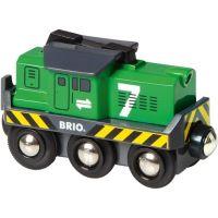 Brio Elektrická lokomotiva zelená svítící