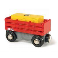 Brio 33565 - Červený vagón se žlutým nákladem