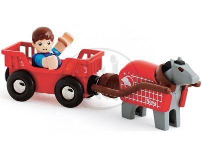 Brio Klusácký kůň a jezdec ve vozíku