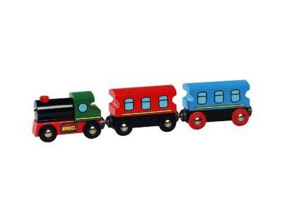 Brio Lokomotiva s 2 osobními vagony