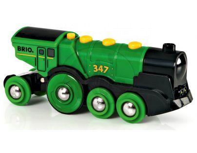 BRIO 33593 - Mohutná elektrická zelená lokomotiva se světly