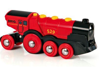 Brio Mohutná elektrická lokomotiva se světly Červená