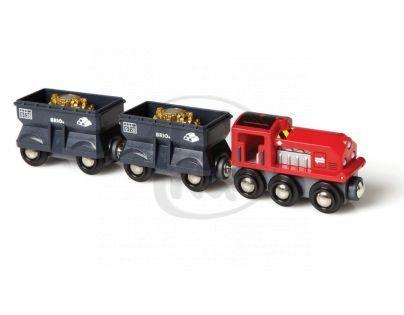 Brio 33278 - Nákladní lokomotiva se 2 vagonky převážejícími zlato