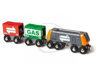 Brio 33259 - Nákladní lokomotiva se dvěma vagónky