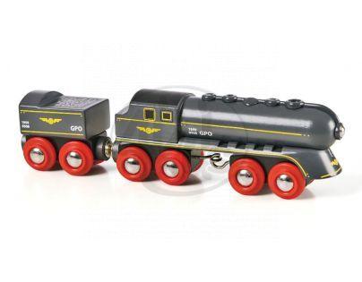 Brio 33697 - Rychlý šedý vlak s vagonem