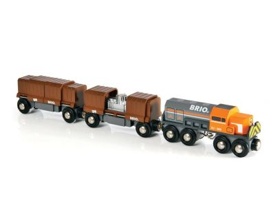 Brio 33567 - Souprava nákladní vlak (lokomotiva+2vagony)