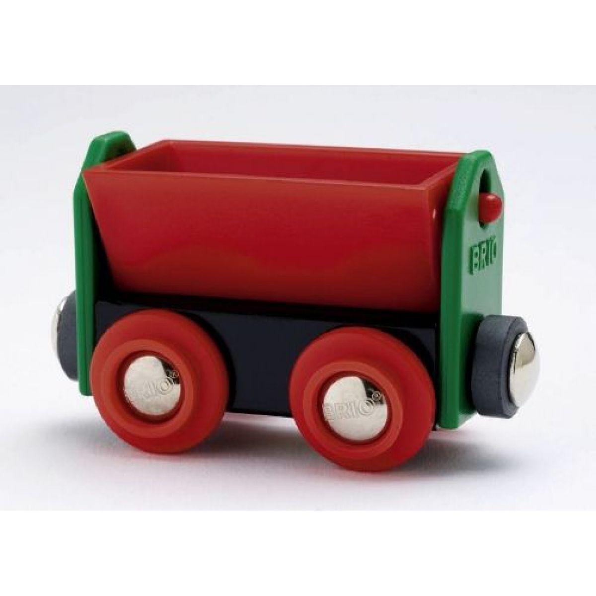 Brio 33614 - Červený vyklápěcí vagon