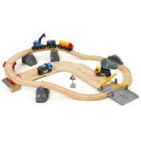 Brio  Vláčkodráha s nákladním vlakem, podjezdem a silnicí
