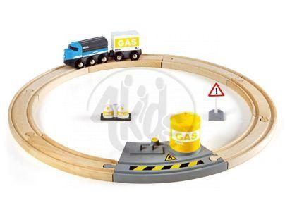 Brio 33047 - Vláčkodráha kruhová, nákladní vlak, 13 dílů