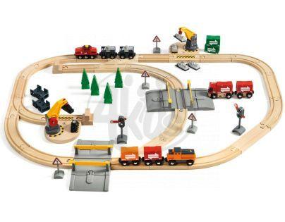 Brio Vláčkodráha s jeřáby a elektrickým nákladním vlakem