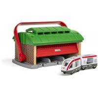 Brio World Přenosné vlakové depo
