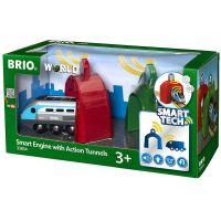 Brio World 33834 Lokomotiva s aktivními tunely Smart Tech 6