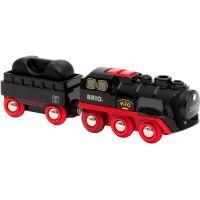 Brio World Parná lokomotíva s vodnou nádržou na batérie