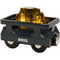 Brio World Svítící vagón se zlatem