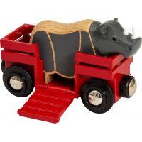 Brio World Nosorožec a vagónek