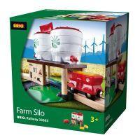 Brio Zemědělské silo s kolejnicí a vagónkem 2