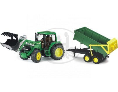 Bruder 01134 Traktor Jonh Deere 6920 s přívěsem a přední lžící