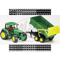 Bruder 01134 Traktor Jonh Deere 6920 s přívěsem a přední lžící 2