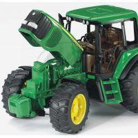 Bruder 01134 Traktor Jonh Deere 6920 s přívěsem a přední lžící 4
