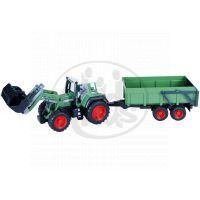 Bruder 01169 Traktor Fendt Favorit 926 s přívěsem a přední lžící