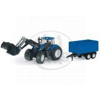 Bruder 01993 Traktor New Holland T8040 s vlekem a čelním nakladačem 2