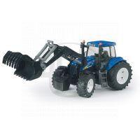 Bruder 01993 Traktor New Holland T8040 s vlekem a čelním nakladačem 3