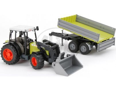 Bruder 01998 Traktor Claas Nectis 267 F s přívěsem a nakladačem