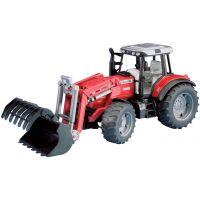 BRUDER 02042 - Traktor Massey Ferguson 7480 nakladač