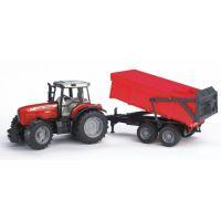 Bruder 02045  Traktor Massey Ferguson 7480 a vlek