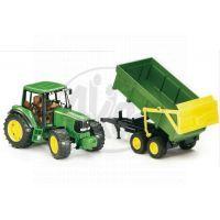 BRUDER 02058 - Traktor John Deere 6920+ sklápěcí valník