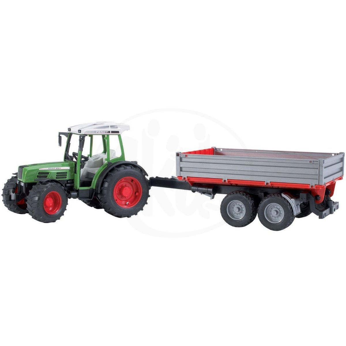 Bruder 02104 Traktor Fendt farmer a sklápěcí vůz