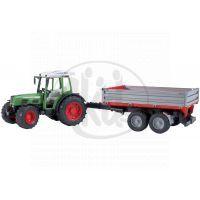 BRUDER 02104 - Traktor Fendt farmer + sklápěcí vůz