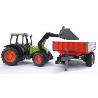 BRUDER 02112 - Traktor Claas Nectis + čelní nakladač + vůz