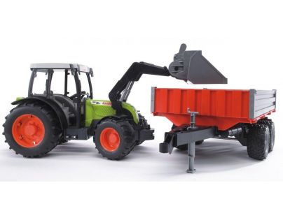 Bruder 02112 Traktor Claas Nectis a čelní nakladač a vůz