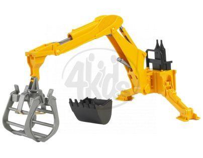 BRUDER 02338 - Závěsný bagr za traktor