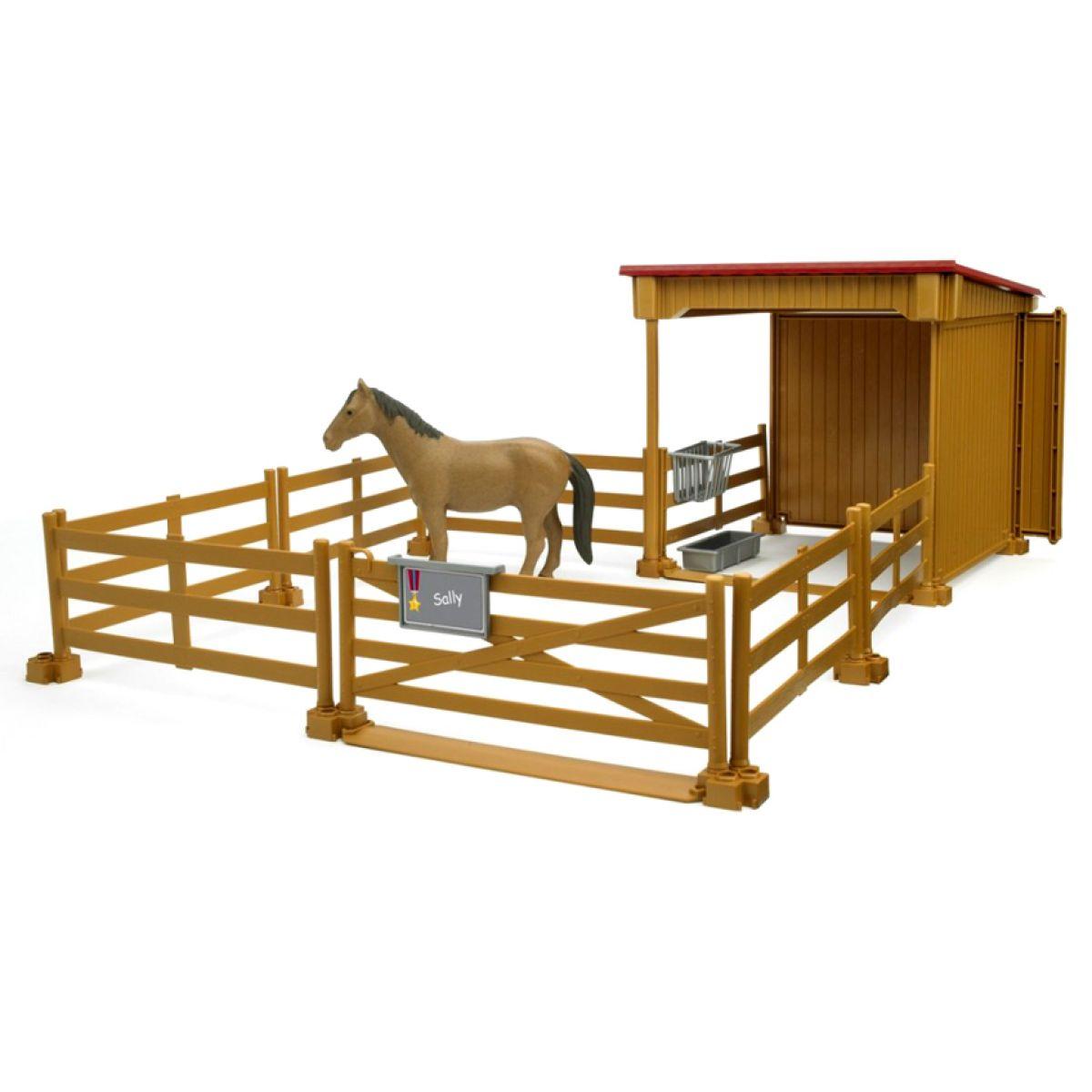 BRUDER 02411 - Ohrada s koněm + plot