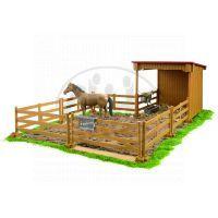 BRUDER 02411 - Ohrada s koněm + plot 3