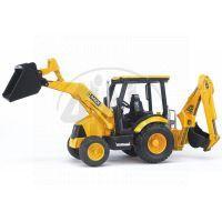 BRUDER 02427 - Traktor JCB Midi - čelní nakladač + bagr