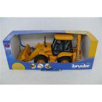 BRUDER 2428 Traktor JCB predný nakladač + bager 6